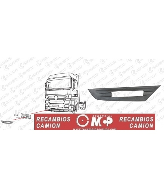 EMBELLECEDOR ACTROS MP3 MEGA