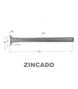 SOPORTE GUARDABARROS ZINCADO 75cm