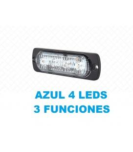 LUZ EMERGENCIA AZUL 3 FUNCIONES