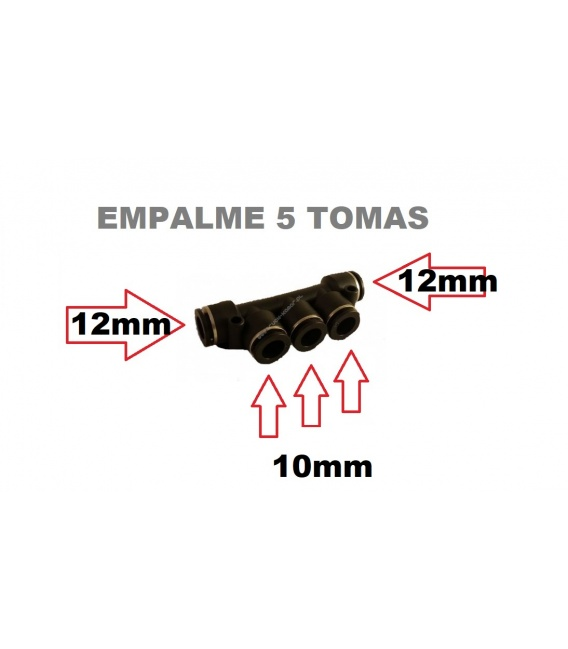 EMPALME DE AIRE 12MM X 10MM