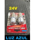 2 LAMPARAS 24V LUZ AZUL LEDS SMD