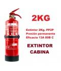 EXTINTOR CABINA OBLIGATORIO 2KG