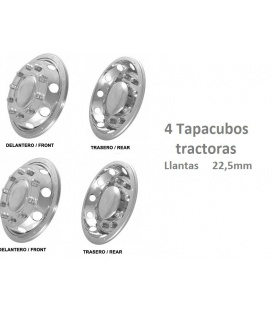 4 TAPACUBOS TRACTORAS