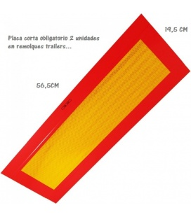 PLACA REMOLQUE CORTA 565X195MM