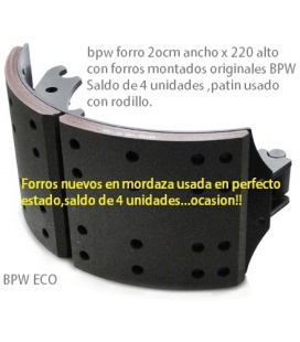 PATIN FRENO USADO CON FORROS BPW ECO