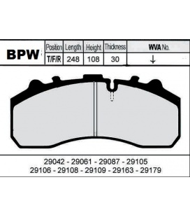 Pastillas frenos ejes BPW.