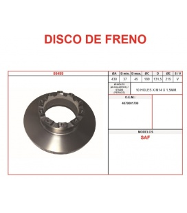 DISCO FRENO SAF