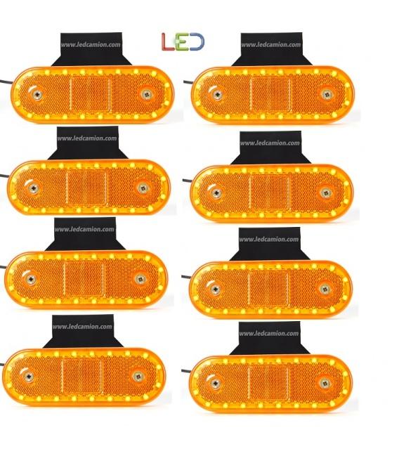 8 PILOTOS 10 LEDS 24V/12V