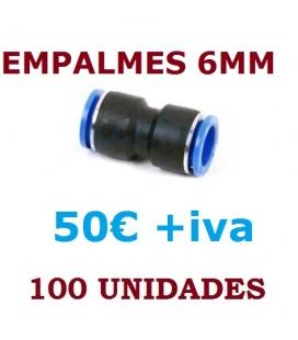 EMPALMES RAPIDOS 6 MM (100 UNIDADES)