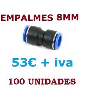 EMPALMES RAPIDOS 8MM (100 UNIDADES)