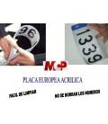 MATRICULAS ACRILICAS HOMOLOGAS