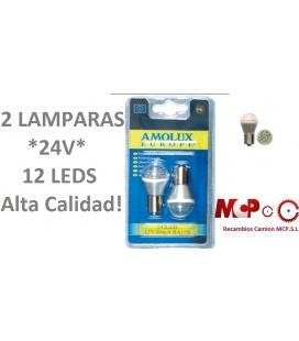 LAMPARA 24V- 12 LEDS AMOLUX