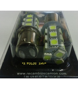 LAMPARAS 2 POLOS LEDS 24V