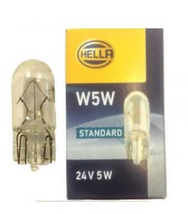 LAMPARA W5W 24V CRISTAL HELLA