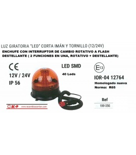 ROTATIVO FLASH LEDS 12/24V