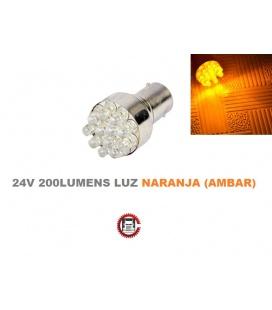 BOMBILLA 24V-12LEDS AMBAR