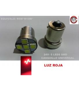 LAMPARA ROJA 5 LEDS / 24V
