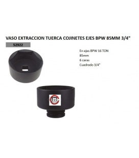 VASO EXTRACTOR TUERCA BPW 85MM 3/4""