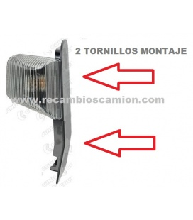 PILOTO STRALIS BLANCO 2 TORNILLOS
