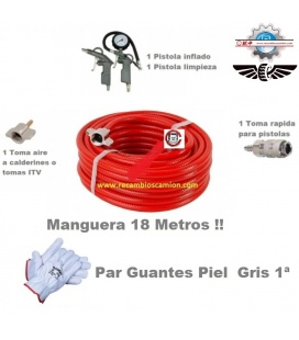 2 PISTOLAS CON MANGUERA 18M