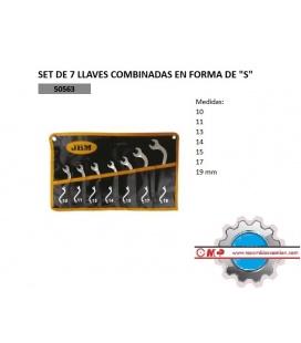 """7 LLAVES COMBINADAS EN FORMA DE """"S"""""""