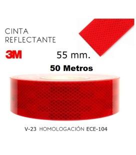 Adhesivo 3M por metros reflex ROJO