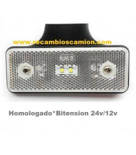 PILOTO 2 LEDS CATADRIOPTICO BLANCO