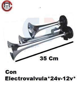 BOCINA TRIPLE 12/24V + Aire.