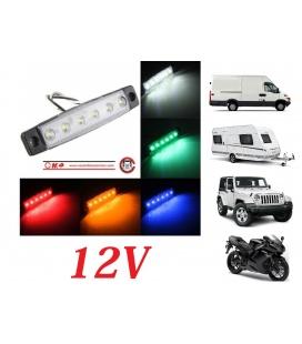 PILOTO MINI 12V 6 LEDS