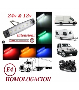 PILOTO MINI BITENSION 24V/12V - 6 LEDS