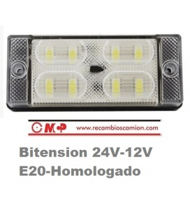 LUZ INTERIOR 8 LEDS 24/12V