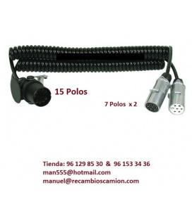 CABLE 15 Polos X 2 de 7 polos.