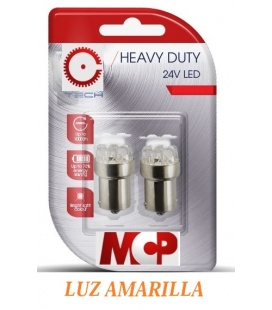 LAMPARAS LUZ NARANJA LED 24V