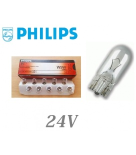 LAMPARA PHILIPS W5W CUÑA 24V