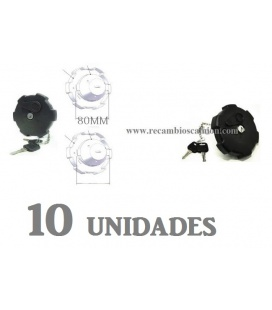 10 Tapones Combustible 80MM