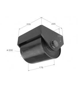 Rueda Contenedor Diametro 200mm