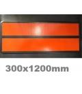 PLACA ADR MINI 300X120MM