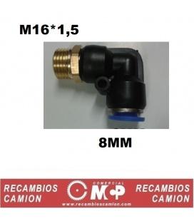 EMPALME 16MM ROSCA M12*1,5