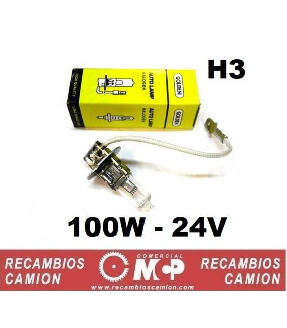 LAMPARA H3-24V-100W MAS LUZ