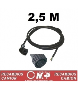 Enchufe con cable pilotos 7 luces