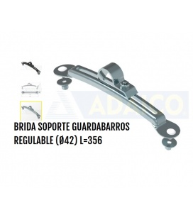 BRIDA INOX. REGULABLE GUARDABARROS.
