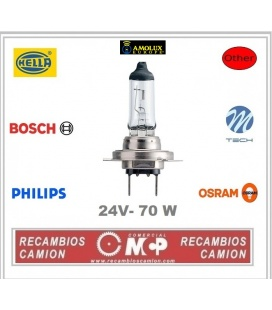 LAMPARAS FAROS H7 -24V