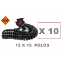 10 CABLES 15 POLOS COMPLETO